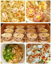 Ramen With Cute Fish Cake Shapes Eat All The Food Cute Food