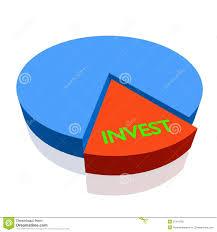 3d Pie Chart Invest Stock Illustration Illustration Of