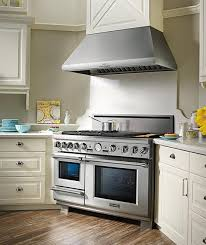 kitchenaid 48 inch range. 48 inch pro grand range and ventilation in a kitchen kitchenaid