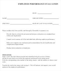 Employee Performance Evaluation Sample Writing A For Employees ...