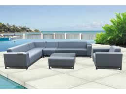 outdoor upholstered furniture. Brighton 6-Piece Outdoor Upholstered Modular Lounge Setting - FurnitureOkay Furniture