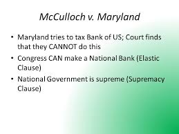supreme court cases must know federalism marbury v madison mcculloch v