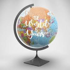 vinyl decal the world is yours globe