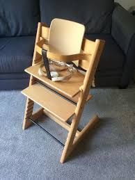 stokke tripp trapp natural with seat back and baby harness