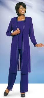 Misty Lane 13062 Purple Three Piece Womens Pant Suit For Church Choir