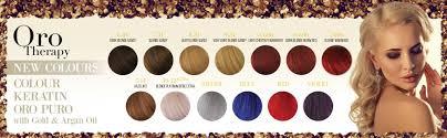 Fanola Colour Chart Fanola Oro Therapy Colours Www Fanola Com Au Hair Color
