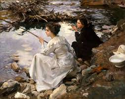 the imagine is from a john singer sargent painting called fishing from 1912