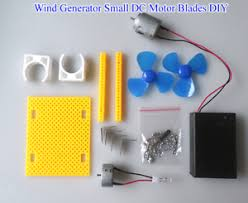 LED Windmill Wind Generator Small DC Motor Blades DIY Project