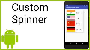 Spinner Design In Android Custom Spinner Android Studio Tutorial