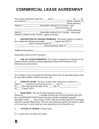 Commercial leases differ from residential agreements in that they require unique terms for every agreement — so it's a good thing you can easily customize this free commercial lease agreement template with our pdf editor! Free Commercial Lease Agreement Template Pdf Addictionary