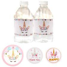 unicorn candy bag sticker birthday party decoration gift box seal cartoon label