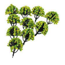 10pc 1 150 Train Railroad Scenery Landscape Model Trees N Scale W Flower 3 Ebay