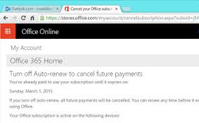 Cancel Office 365 How To Cancel Microsoft Office Subscriptions