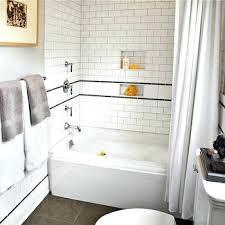 subway tile bathroom shower surround beveled white