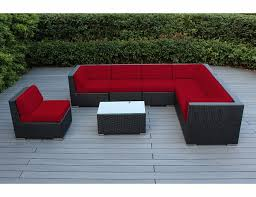 weekly deal ohana outdoor patio furniture 8 piece sectional conversation set gray wicker