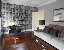 home office wallpaper. Modern Swivel Chair Home Office Contemporary With Accent Wall Book Mid Century Wallpaper