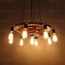 9 light vintage retro pendant lights