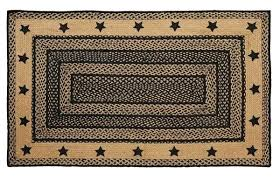 square braided rugs new primitive country colonial kitchen square large braided star rug black tan braided