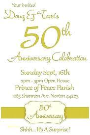 Printable 50th Wedding Anniversary Invitations Artwrk Pro