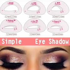 details about 6x eyebrow eyeshadow models card auxiliary eye makeup drawing stencil healthy c
