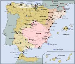 homage to catalonia  general map of the spanish civil war 1936 1939