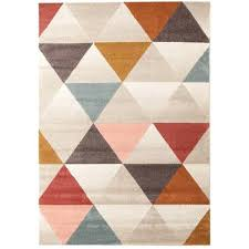 modern rug designs multi coloured triangle geometric patterned modern rug rugs of beauty mid century modern rug designs mid century