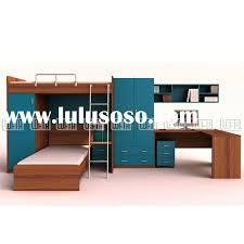 children bedroom furniture with kids bunk trundle bed two door wardrobe computer desk