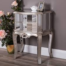 mirrored furniture. Mirrored Bedside Tables Furniture