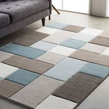 wrought studio mott street modern geometric carved teal brown area for blue and rugs ideas 0