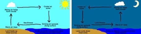 land and sea breeze animation. land and sea breeze animation