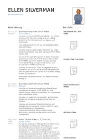 business analysttechnical writer resume samples writing resume example
