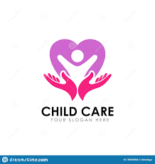 Family Care Logo Design Template Child On The Heart Shape