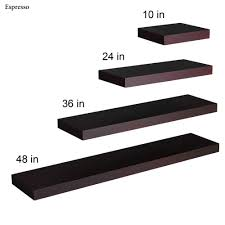 manhattan black floating shelf