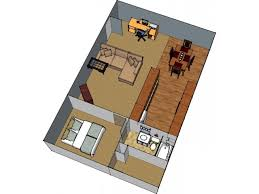 1 Floor Plan 2 | 1 Bedroom Apartments In Lafayette LA | Bayou Shadows
