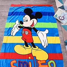INNOLITES <b>Cartoon</b> Blanket Throw <b>Mickey Mouse</b> Printing Cover ...