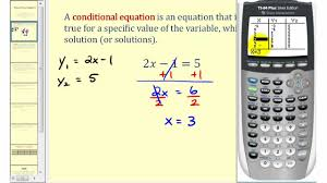 types of linear equations conditional identity and contradiction you