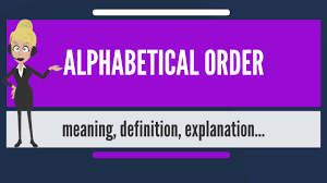 Alphabetical Order What Is Alphabetical Order What Does Alphabetical Order Mean