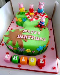 Peppa Pig Picnic Number Cake