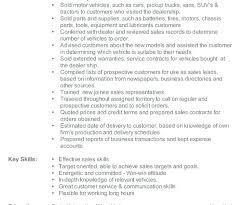 Auto Sales Consultant Sample Resume For A Representative In Fashion ...