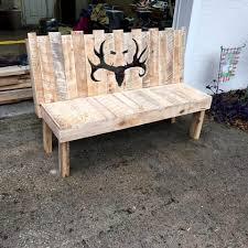 diy wood pallet furniture. Recycled Pallet Patio Bench Diy Wood Furniture L