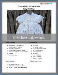 Crochet Baby Skirt Size Chart Free Crochet Baby Dress Pattern Lovetoknow