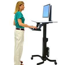 desk to stand at standing desks monitor mounts mobile carts ergotron 13