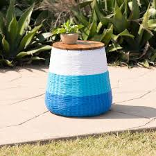 southern enterprises braylor indoor or outdoor garden stool or accent table with storage