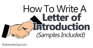 Sample Introductory Letters How To Write An Introduction Letter Samples Included