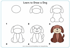dogs drawings step by step. Perfect Dogs Learn How To Draw Maybe Use As A Following Directions Center Websites  Given Throughout Dogs Drawings Step By S