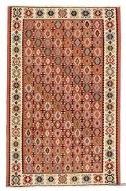 red vintage sharkoy kilim rug 5 1 x 7 10
