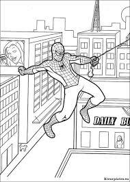 Spiderman Kleurplaten Kleurplateneu