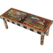 Kitchen Table  Awesome Hand Painted Desk Painted Kitchen Chairs Hand Painted Benches