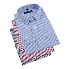 Fashion <b>3pcs</b>/<b>lot</b> Men Long Sleeve Plaid Dress Shirt Top @ Best ...