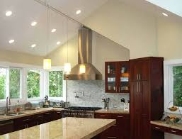 recessed lighting sloped ceiling remodel vaulted ceilings cathedral kitchen installing track on a adapter